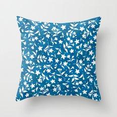 Hummingbird's Garden: wildflowers Throw Pillow