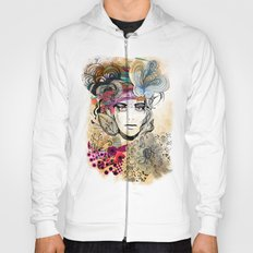 colorful floral girl Hoody