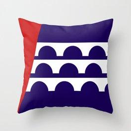 Des Moines city flag united states of america Iowa Throw Pillow