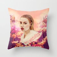 iggy azalea Throw Pillows featuring IGGY by Share_Shop