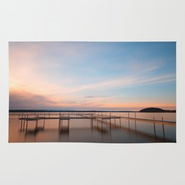 Saratoga Lake Sunset Rug