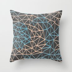 Non-linear Points Throw Pillow