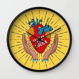 Tu Lucha Es Mi Lucha Wall Clock