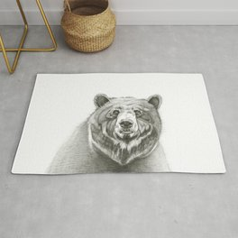 Portrait of a Bear Rug