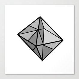 Graphic . geometric shape black 5 Canvas Print