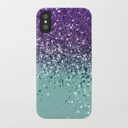 Purple Teal Mermaid Ocean Glitter #1 (Faux Glitter) #shiny #decor #art #society6 iPhone Case