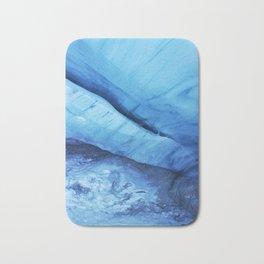 Blue ice of Blackcomb Glacier Ice Cave Bath Mat