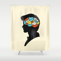 doctor Shower Curtains featuring Doctor Phrenology by Wharton