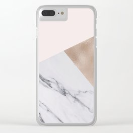 Rosy layers Clear iPhone Case