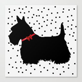 Christmas Scottie Dog Canvas Print