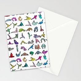 Rainbow Yoga Poses Stationery Cards