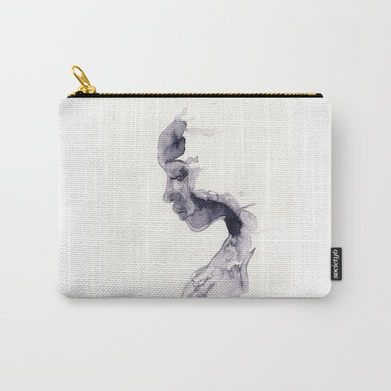 Thoughts - ink wash Carry-All Pouch