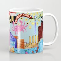 maryland Mugs featuring Baltimore, Maryland by Karen Riddle