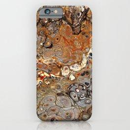 Earth Tones Lava Flow iPhone Case