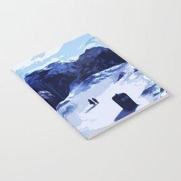 Tardis Art At The Snow Mountain Notebook