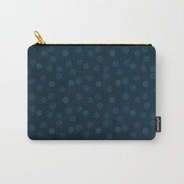 Dark blue polka dot Carry-All Pouch