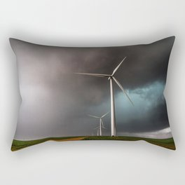 Wind Farm - Renewable Energy on the Texas Plains Rectangular Pillow