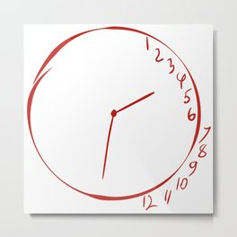 Will Graham Clock Drawing - Hannibal Metal Print