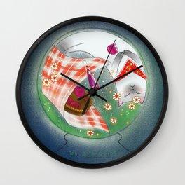 Cat in Snow Globe series 5 Wall Clock
