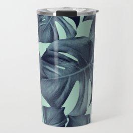 Monstera Leaves Pattern #10 #tropical #decor #art #society6 Travel Mug
