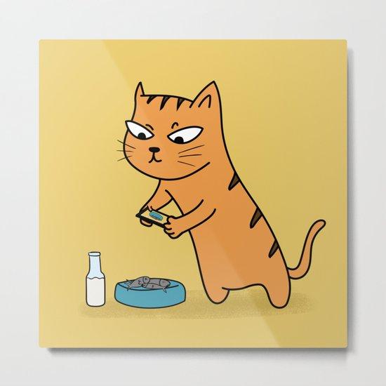 Foodie Cat Metal Print