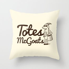 Totes McGoats Throw Pillow