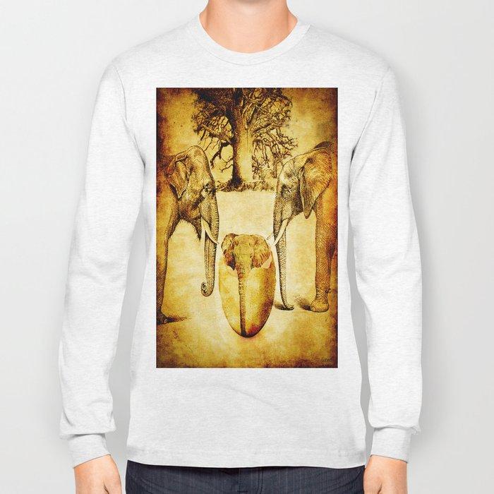Birth of elephant Long Sleeve T-shirt
