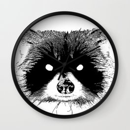Black Metal Raccoon Wall Clock