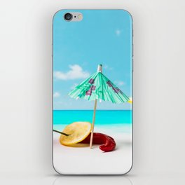 The Red, the Hot, the Chili on the beach iPhone Skin