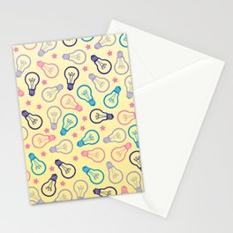 Cute Pastels Light bulb Pattern Stationery Cards