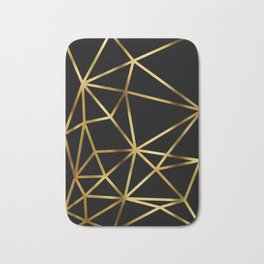 In Gold Triangles. Art Deco. Bath Mat