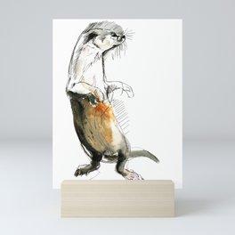 Totem Neotropical otter Mini Art Print