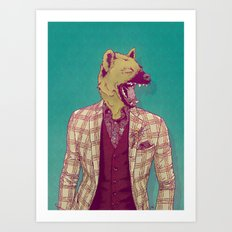 Elwood the Hyena Art Print
