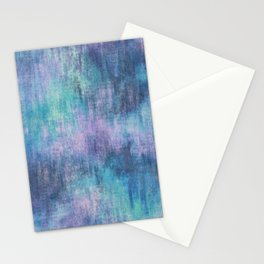 Baja Blue Watercolor Streaks Stationery Cards