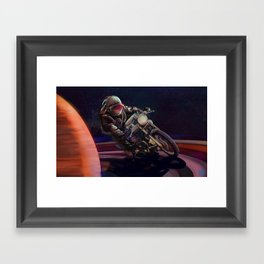 cosmic cafe racer Framed Art Print