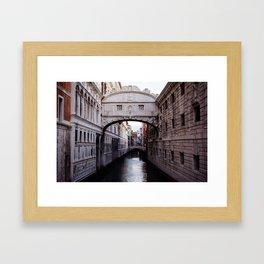Venice: Bridge of Sighs Framed Art Print