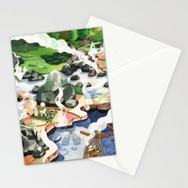 Hot spring onsen egg watercolor Stationery Cards