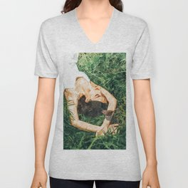 Jungle Vacay #painting #portrait Unisex V-Neck