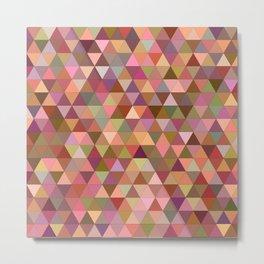 Happy pastel triangles Metal Print