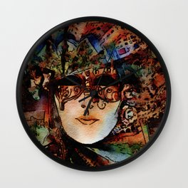 Grand Masquerade Costume Mask 01 Wall Clock