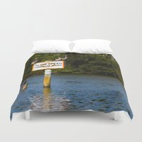 manatee Duvet Covers featuring Manatee Zone by Roger Wedegis