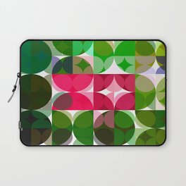 Pink Roses in Anzures 6 Abstract Circles 3 Laptop Sleeve