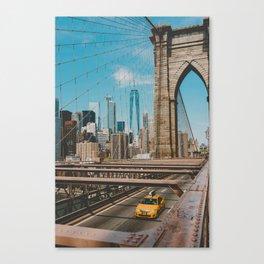 The Bridge in New York City (Color) Canvas Print