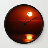 copper Wall Clocks featuring Copper by Joann Yant