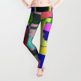 Raw Paint 3 - Colour Abstract Leggings