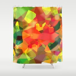 Abstract Polygon Forest Shower Curtain
