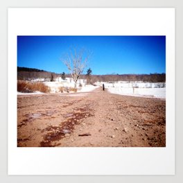 Country Road Take Me Home Art Print