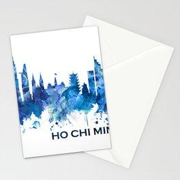 Ho Chi Minh City Vietnam Skyline Blue Stationery Cards