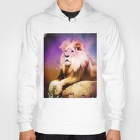 lion king Hoodies featuring King Lion by SwanniePhotoArt