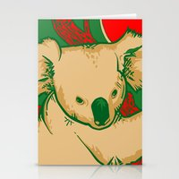 koala Stationery Cards featuring Koala by whiterabbitart